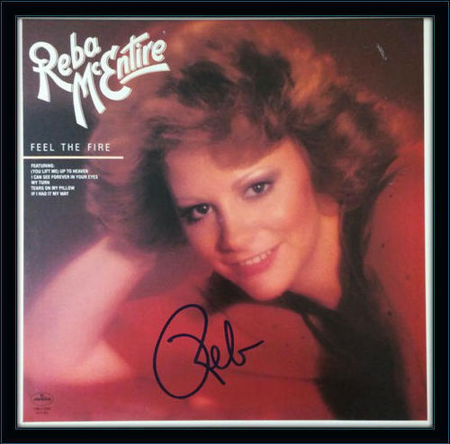 Framed Reba McEntire LP Autograph with COA