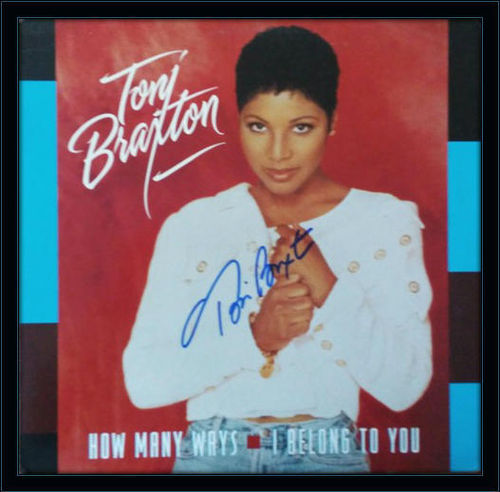 Framed Toni Braxton LP Autograph with COA
