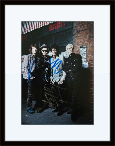Framed Rolling Stones Authentic Autograph with COA