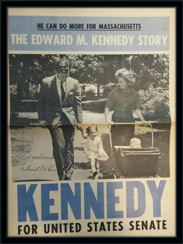 Ed Kennedy Newspaper Autograph with COA