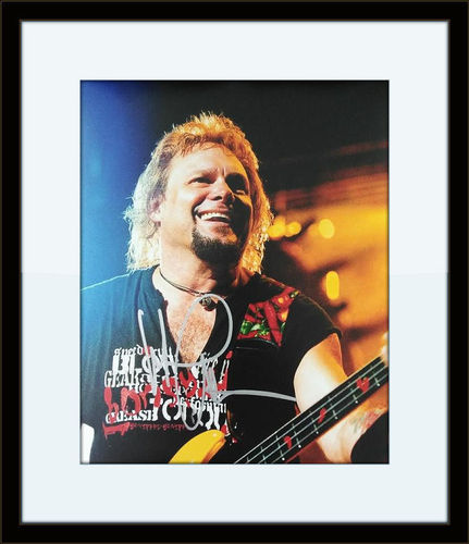 Framed Michael Anthony Photo Autograph with COA