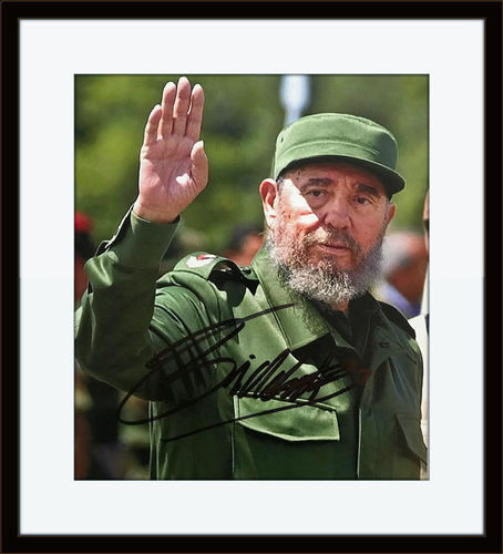 Framed Fidel Castro Authentic Autograph with COA