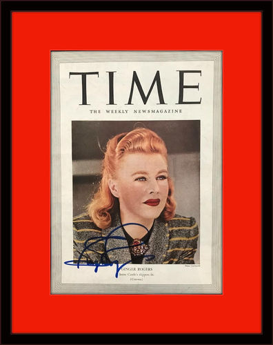 Framed Rare Ginger Rogers Authentic Autograph with COA