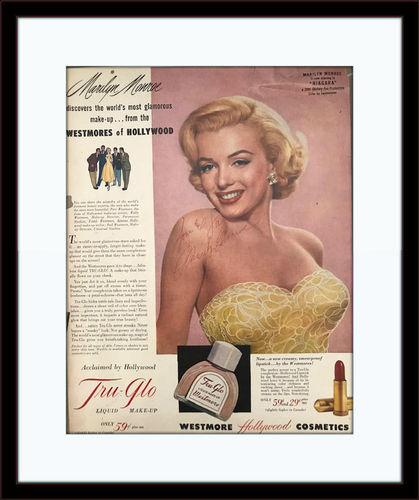 Framed Marilyn Monroe Autographed Magazine Page with COA