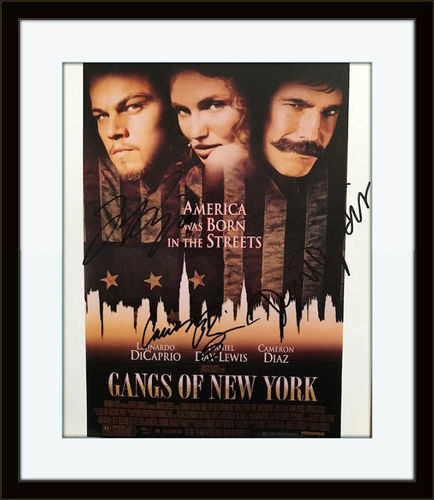 Framed Gangs Of New York Autograph Photo with COA
