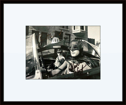 Framed Adam West Burt Ward Batman Authentic Autograph COA