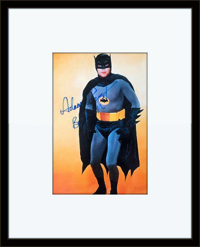Framed Adam West Batman Authentic Autograph with COA