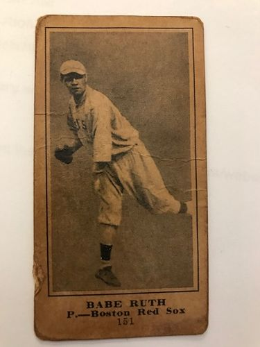 Babe Ruth Rookie Card with COA