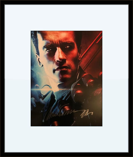 Framed Arnold Schwarzenegger Photo Autograph with COA