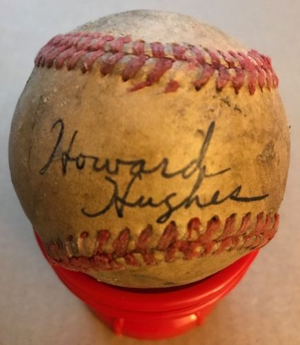 Howard Hughes Autographed Baseball with Certficate of Authenticity
