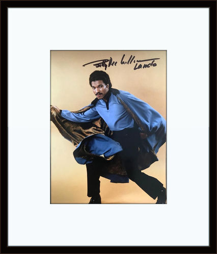Framed BILLY DEE WILLIAMS STAR WARS COA SIGNED AUTOGRAPH 6X8 PHOTO with Certificate of Authenticity