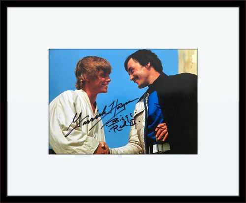 FRAMED STAR WARS MARK HAMILL GARRICK HAGON AUTOGRAPHED PHOTO with Certificate of Authenticity