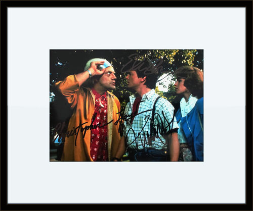 Framed Back To The Future Cast Members Photo Autograph with Certificate of Authenticity