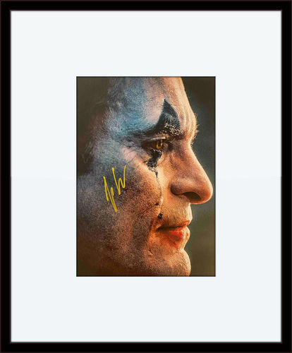 Framed Joaquin Phoenix JOKER Autographed 6X8 photo with Certificate of Authenticity