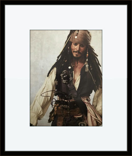 Framed Johnny Depp Pirates of Caribbean 6X8 photo with Certificate of Authenticity