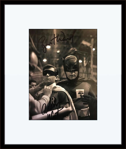 Framed Adam West Burt Ward Batman Authentic Autograph with Certificate of Authenticity