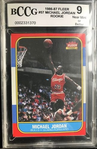 Michael Jordan ROOKIE FLEER On Card with Certificate of Authenticity