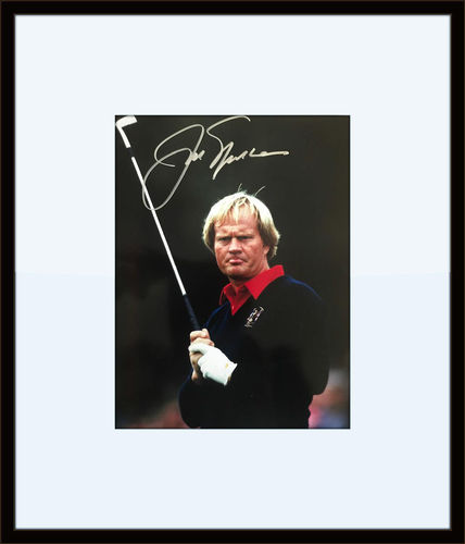 Framed Jack Nicklaus Authentic Autograph with Certificate of Authenticity